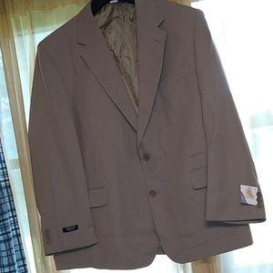 Haband Executive Division Tan Sport Coat 48 R